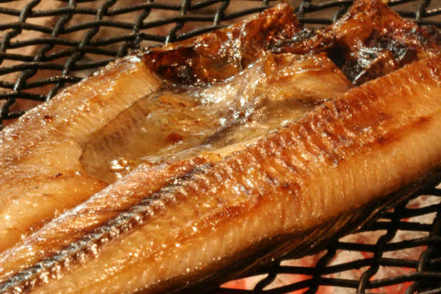 Charcoal grilled Atka mackerel